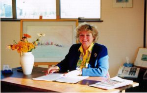 francoise nicoloff at her desk in sydney australia
