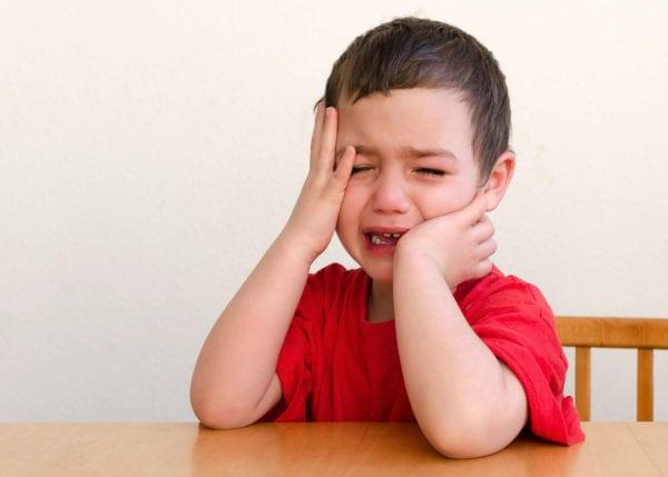 sensory meltdown little boy crying upset