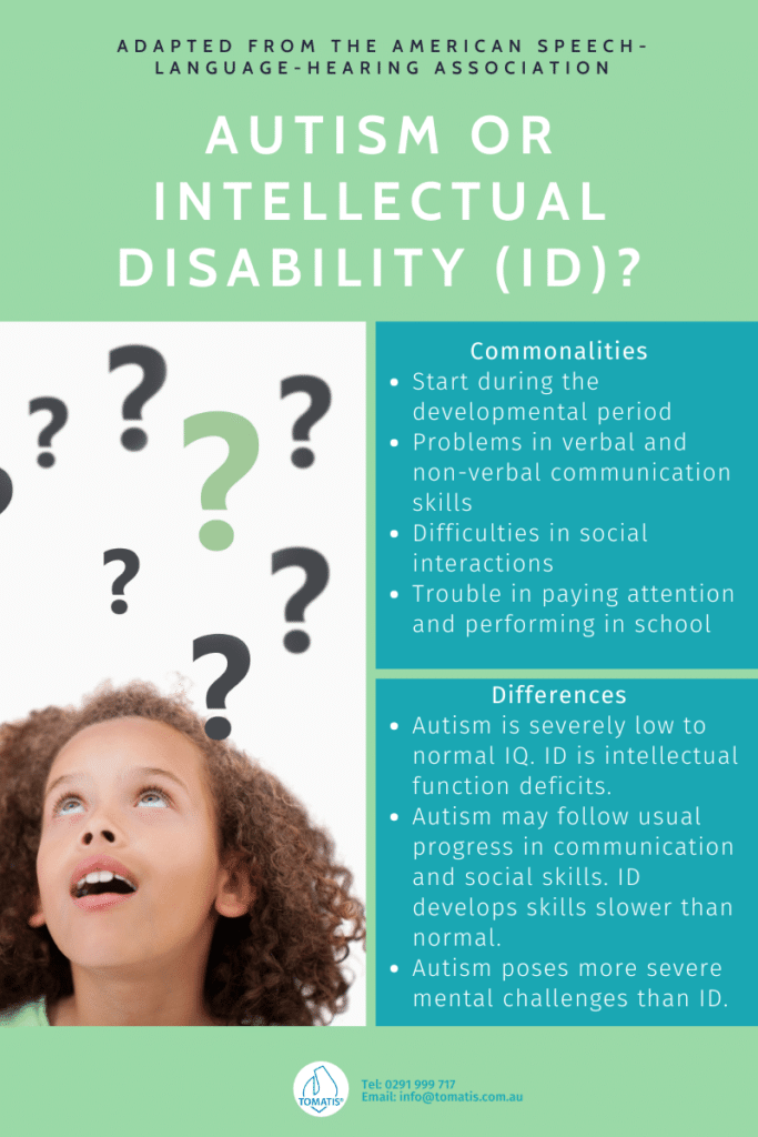 autism or intellectual disability